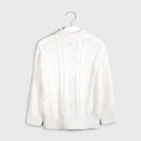 Pulovar tricotat ivoire de fete