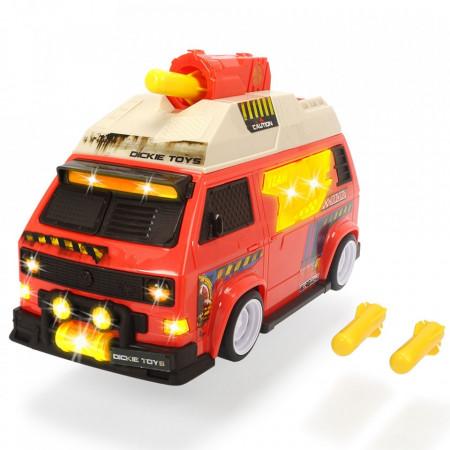 Masina Dickie Toys Volkswagen T3 Camper cu proiectile