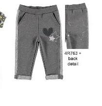 Pantalon de trening gri de fetita IDO