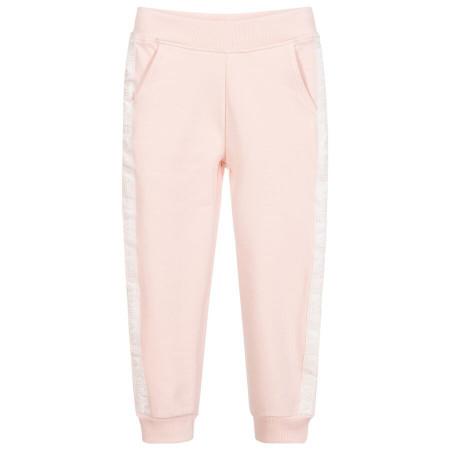 Pantaloni roz de trening de fete GUESS