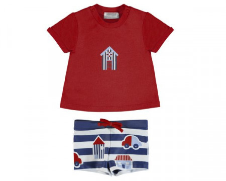 Set tricou si slip pentru bebe baiat