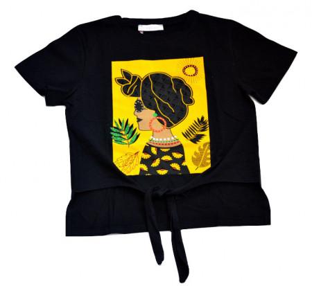 Tricou de fete negru