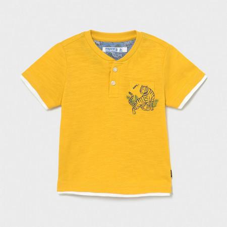 Tricou din bumbac galben , Mayoral pentru baieti