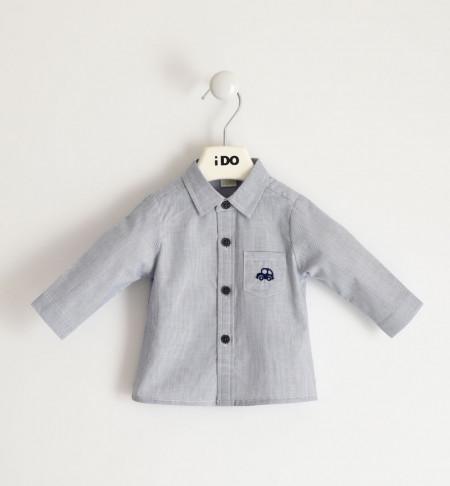 Camasa bebe nou nascut baiat IDO cu masina