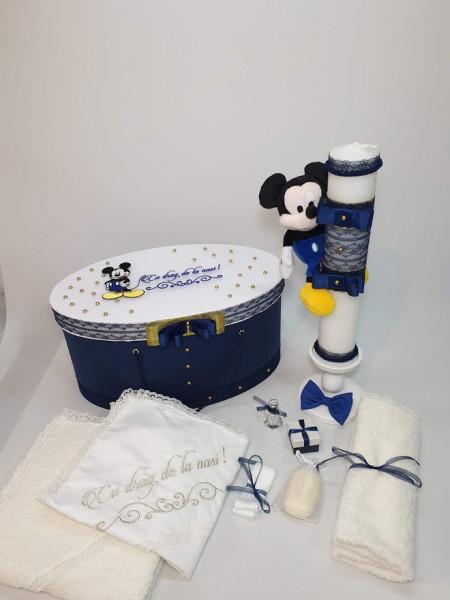 Trusou pentru botez cu cutie si lunamare tema Miki - Mini