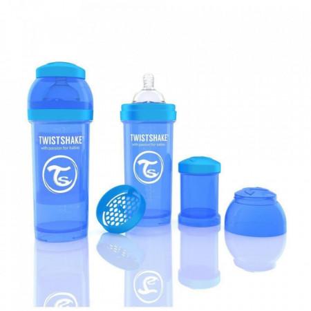 Biberon Twistshake Anti - Colici 260 ml Albastru