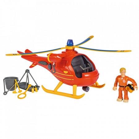 Jucarie Simba Elicopter Fireman Sam Wallaby cu figurina si accesorii