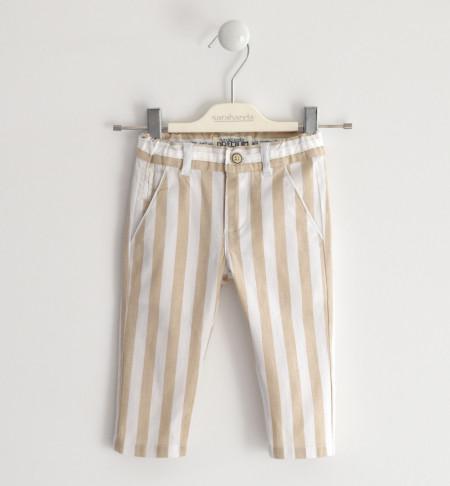 Pantalon casual din in pentru băiat, Sarabanda