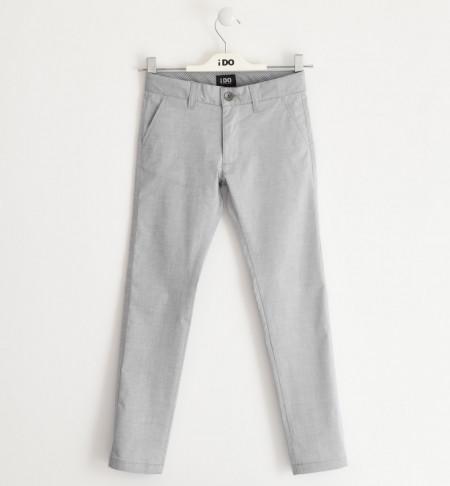 Pantalon lung baiat , Ido , elegant , gri