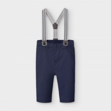 Pantaloni bleumarin lungi cu bretele detasabile Mayoral