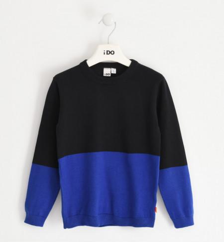 Pulover tricotat în 2 culori, IDO