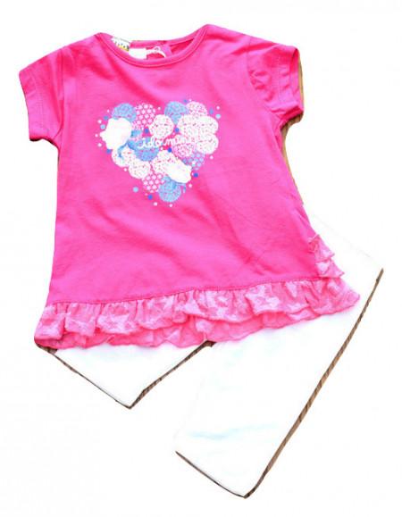 Set de fetita nou nascut , IDO , bumbac , roz