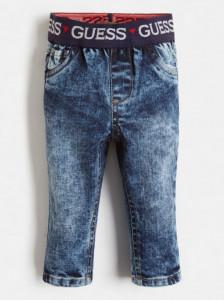 Blue Jeans de băieți, cu bandă Guess în talie