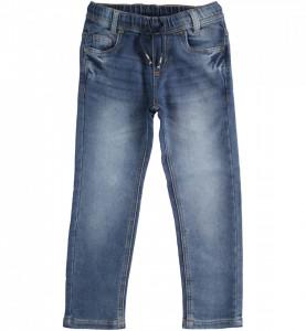 Blue Jeans slim cu șnur pentru adolescenți, iDO