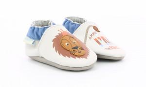 Botosi de piele pentru bebe cu leu
