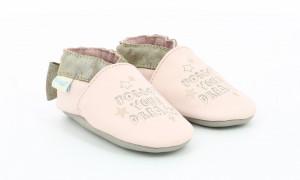 Botosi de piele pentru bebe, Robeez, auriu si roz