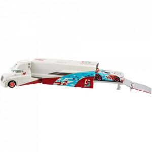Camion Disney Cars by Mattel Ponchy Wipeout Hauler din metal cu masinuta