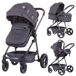 Carucior Chipolino Noah 2 in 1 grey denim