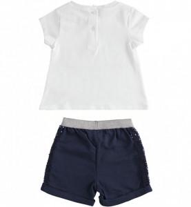 Costum fete Ido din 2 piese: tricou si pantaloni scurti