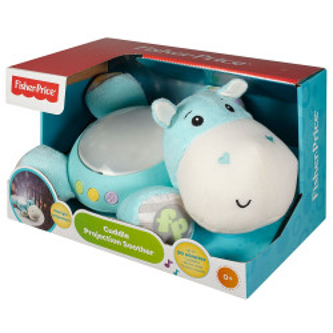 Lampa de veghe plus Fisher Price by Mattel Newborn Hipopotam albastru