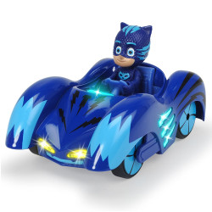 Masina Dickie Toys Eroi in Pijama Mission Racer Cat-Car cu figurina