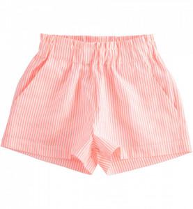 Pantalon scurt cu dungi portocalii pentru fete, IDO