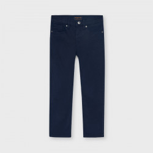 Pantaloni bleumarin de tercot de baieti Mayoral