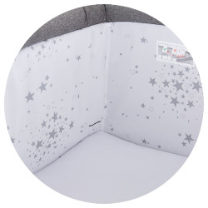 Patut Co-Sleeper Chipolino Close To Me graphite printed stars inside