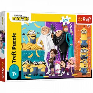Puzzle Trefl Illumination Minions, Minionii in actiune 200 piese