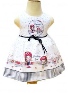 Rochie cu buline pe fond alb