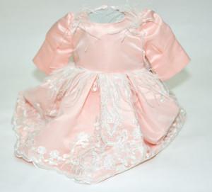 Rochita de botez cu fulgi roz