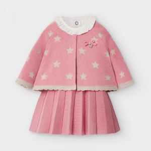 Rochiță tricotată pentru nou născut fetiță în 3 piese, Mayoral