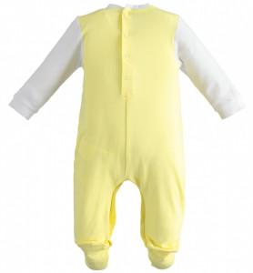 Salopeta bebe nou nascut iepuras cu galben IDO
