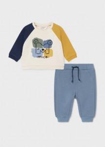 Trening matlasat multicolor pentru nou-născut băiat, Mayoral