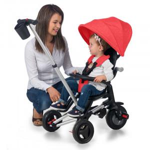 Tricicleta ultrapliabila Qplay Nova Rosu