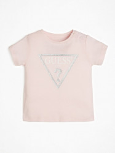 Tricou de bebe fetita roz GUESS