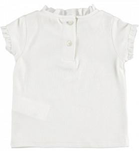 Tricou fete , IDO , alb, bumbac