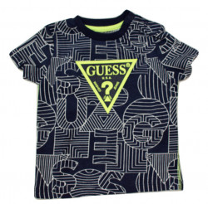 Tricou - fond bleumarin, cu logo, Guess