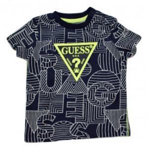 TRicou Guess, fond bleumarin, cu logo