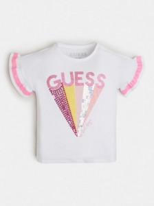 Tricou pentru fete, cu mânecă picată, Guess