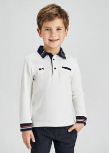 Tricou Polo cu mânecă lungă elegant băiat, Mayoral