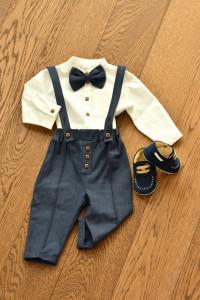 Costum cu pantalon in carouri bleomarin si albastru electric 4 piese