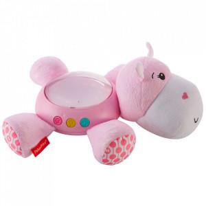 Lampa de veghe plus Fisher Price by Mattel Newborn Hipopotam roz