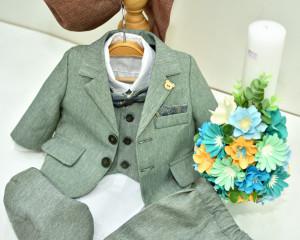 Lumanare de botez cu flori de hartie