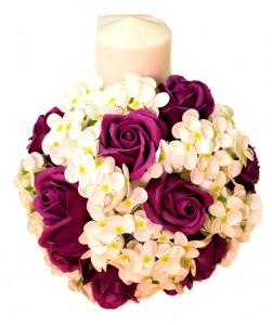Lumanare flori sapun