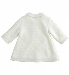 Palton tricotat ivoire bebe fata imblanit IDO