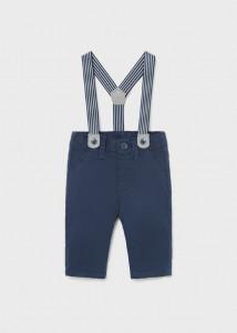 Pantalon lung albastru cu bretele nou-născut băiat, Mayoral