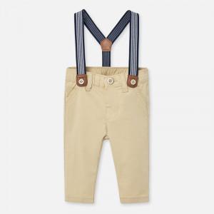 Pantaloni lungi bretele bebe baiat nou-nascut