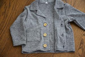 Pulovar gen sacou din material tricotat sare cu piper 100% bumbac
