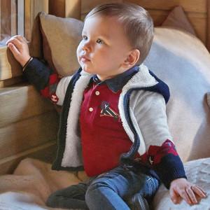 Pulovar tricotat si captusit cu blanita pentru baieti Mayoral